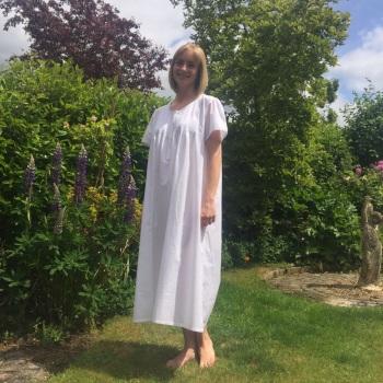 Short Sleeved Cotton Nightdress - Emily