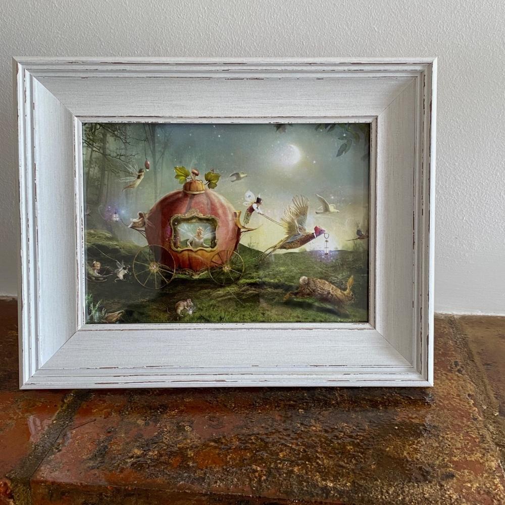 Framed Fairy Print - Moonlit Procession