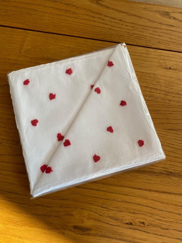Cotton Handkerchiefs - Hearts