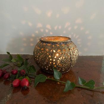 Gold Baroque Tealight Holder