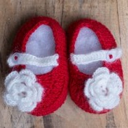 Baby Shoes - Red Mary Janes