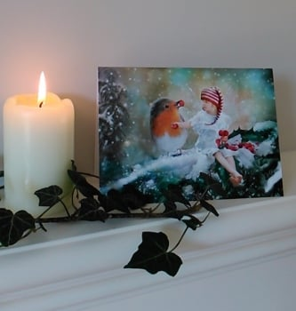 Fairy Christmas Card - A Winter's Feast