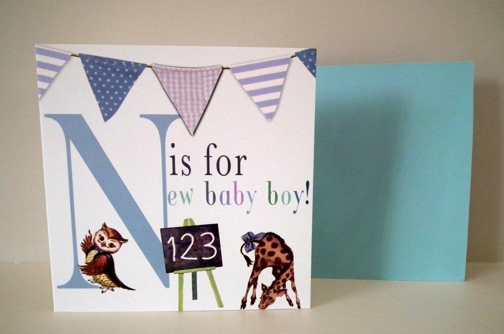 New Baby Card - Baby Boy