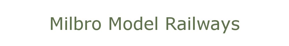Milbro Model Railways, site logo.