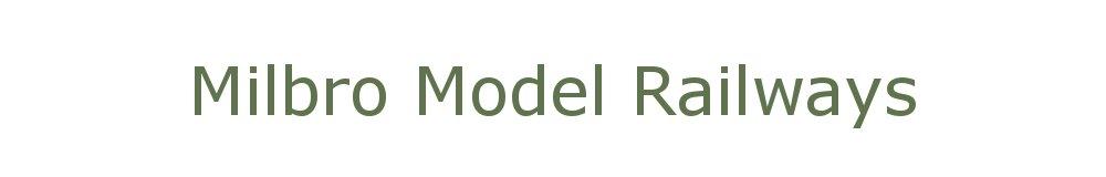 Milbro Model Railways, site logo.