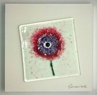 Fused Glass Flower - Pink/Purple