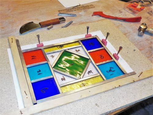 503 Introduction to Leaded Stained Glass - 1 Day Course, Saturday 22nd Febr