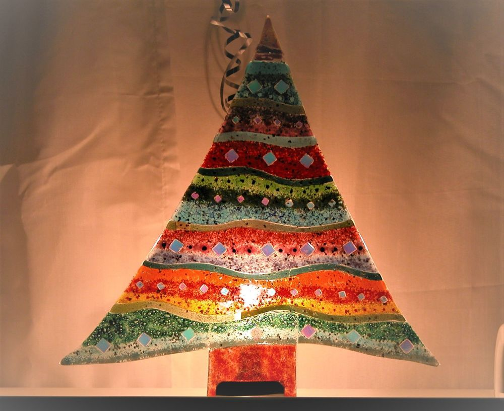 614 Make A Standing Fused Glass Christmas Tree
