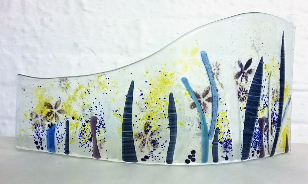Make A Fused Glass Freestanding Wave