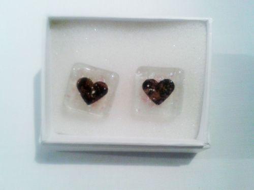 Copper Heart Cuff-links