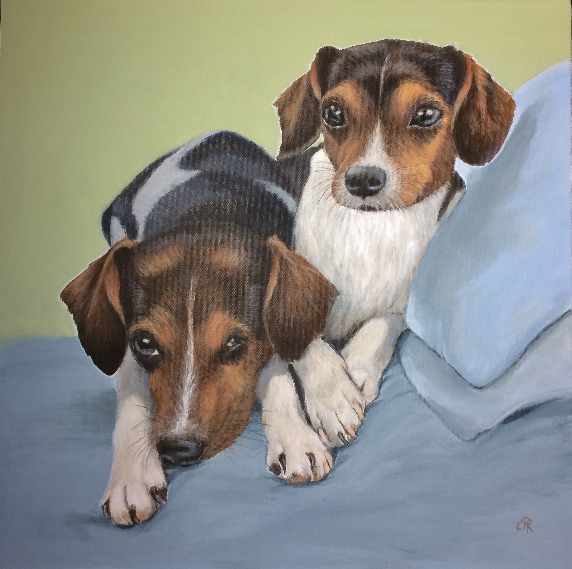 Dog portrait, commission, canine painting