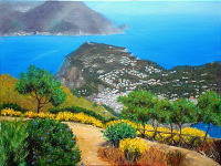 Capri Island paintings