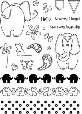 A5 Endearing Elephants - by Sarah Busby & Caroline Shinnie