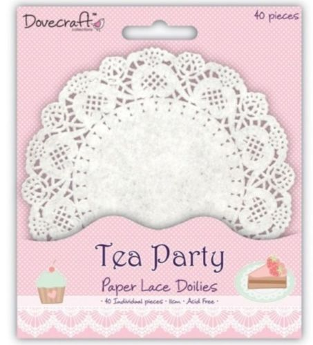 Dovecraft Tea Party Paper Lace Doilies x 40