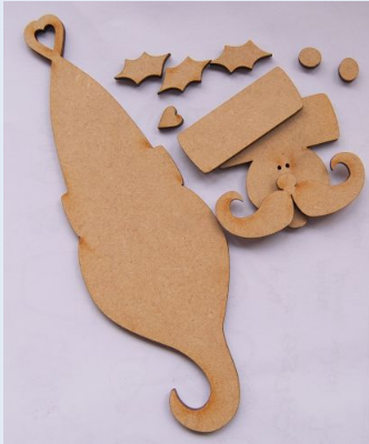 MDF Traditional Father Christmas (Two Pack)