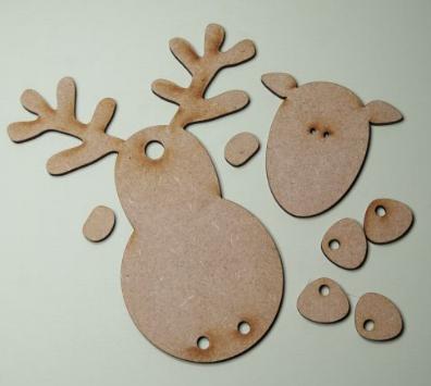 MDF Rufus Reindeer  (Three pack)