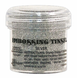 Embossing tinsel -silver