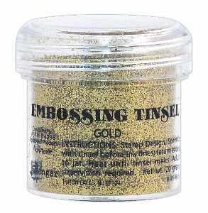 Embossing tinsel - gold