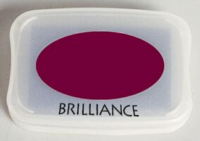 Brilliance Ink Pad Pearlescent Crimson