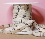 """Cotton Twill Tape Measure Tape Inches - Natural 3/8"""" Wide"""