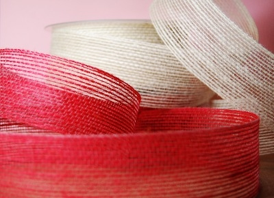 Country Jute Ribbon 40mm - red