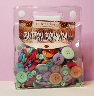 Button Bonanza - Sherbert - 1/2 Lb 225g Button Assortment