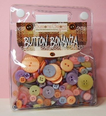 Button Bonanza - Pastel - 1/2 Lb 225g Button Assortment