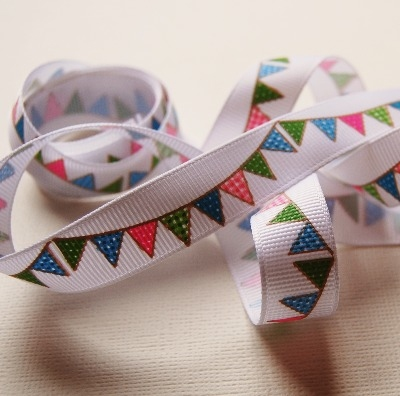Berties Bows Bunting Print - 16mm