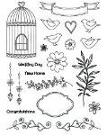A5 Birdie Doodles stamp set