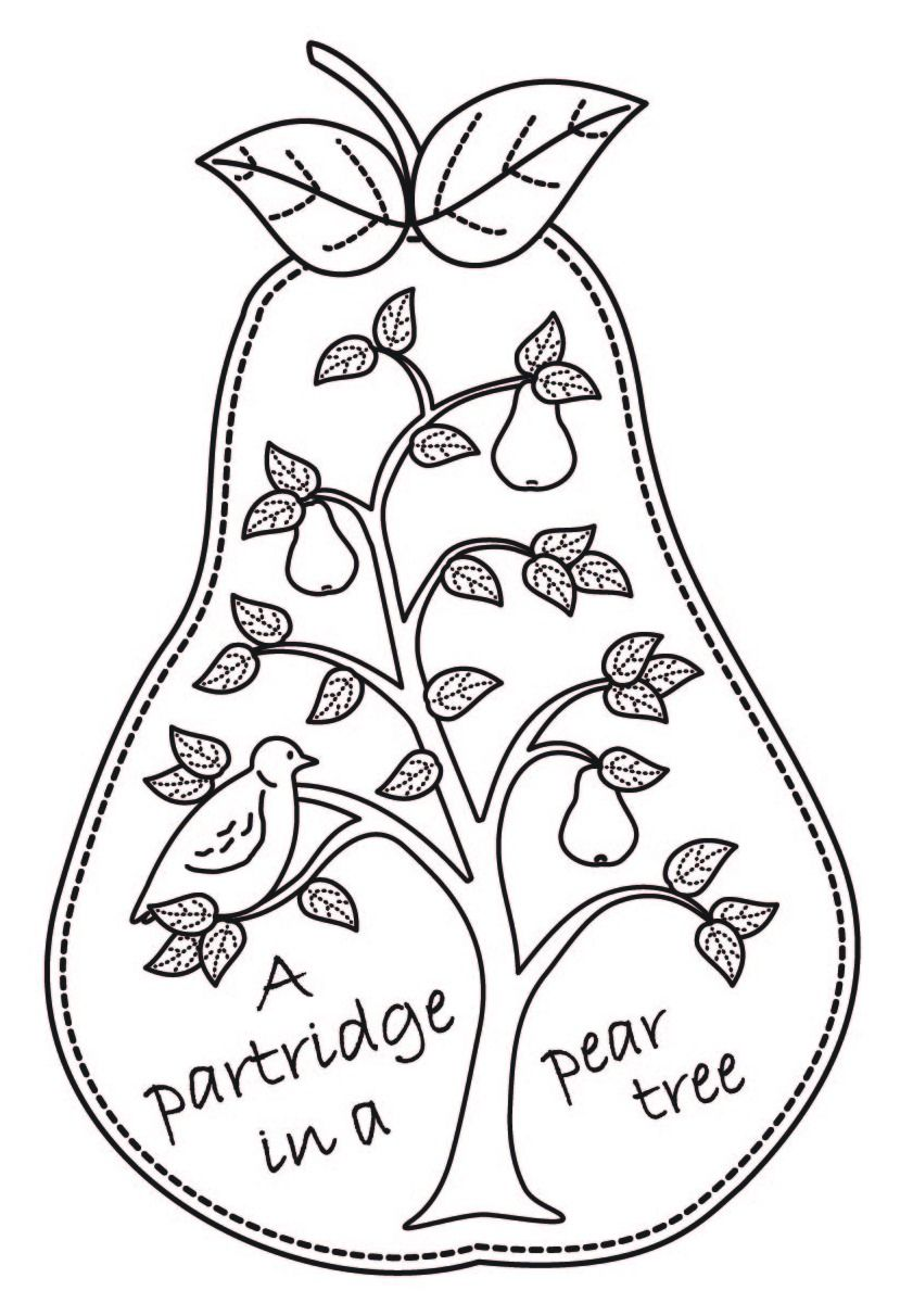 Christmas Tree Colouring In