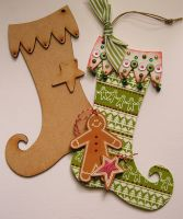 MDF Christmas Stockings set of 3