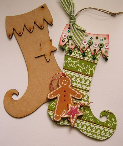 MDF Christmas Stockings