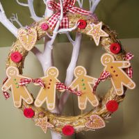 Straw Wreath 21cm