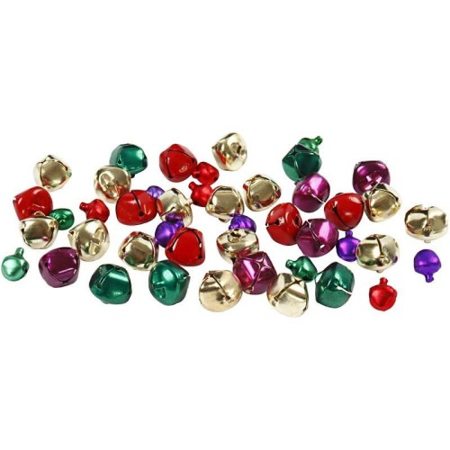 Assorted bright metallic bells
