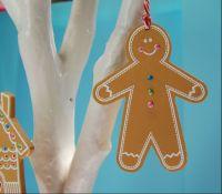 MDF Gingerbread Man - 1 hole hangs vertically