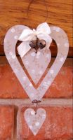 MDF Double Heart Hanger