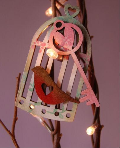 MDF Small Birdcages, locks and keys