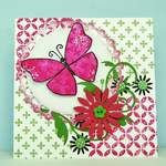 flutterby and print background