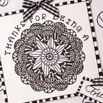 celebrate zentangle close up