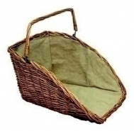 High Backed Wicker Log Basket