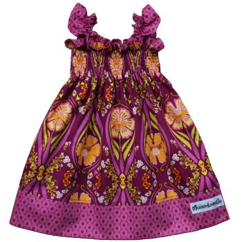 Shirred Dress (Plum & Crocus)