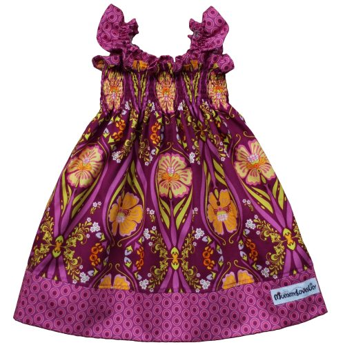 Shirred Dress (Plum & Crocus)