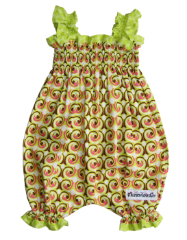Shirred Bubble Romper (Choice of Fabric) Sizes 0-3 years to 3-4 years