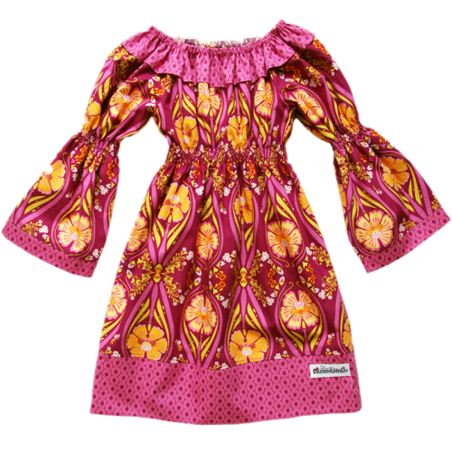 Ruffle Dress (Choice of Fabric) Sizes 6-12 months to 7-8 years