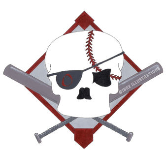 PM PIrates Softball Team Logo