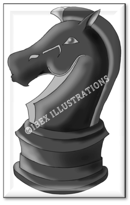Chess knight button jpg