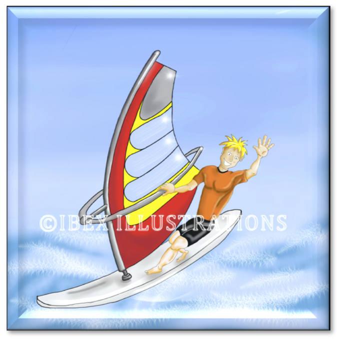 Windsurfer button jpg