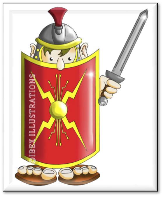 Roman soldier 2 button jpg