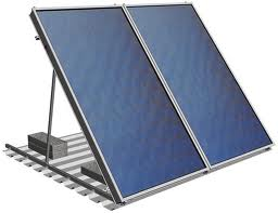 Free standing PV panels for the FiterPod sewage treatment plant