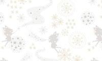CHR6.3 Make a Christmas Wish Fairies on Snow (metallic)